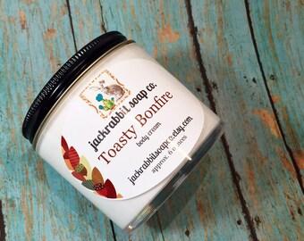 Toasty Bonfire Body Cream | Fall Lotion | Smoke Lotion | Cedar Lotion | Natural Lotion | Shea Lotion | Hand Body Cream | Body Lotion