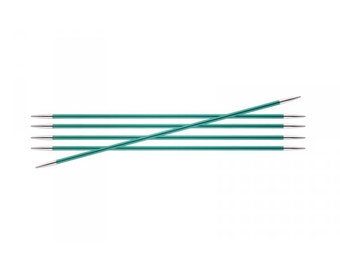 Zing , double pointed knitting needles , KnitPro Zing DPNs , 20cm DPNS, 13 sets together, sizes 2.00 mm - 6.00 mm, knitting needle sets.