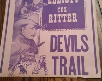 Western Movie Flyer Devils Trail Tex Ritter 1942