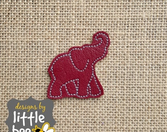elephant silhouette profile like Alabama or Bama FELTIE applique outline embroidery design 4x4 5x7 sorted Instant Download monogram