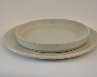 Ceramic Plates. White.