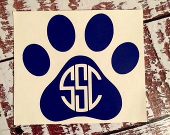 Auburn Yeti Tumbler monogram, pawprint monogram, auburn yeti rambler, tiger monogram, auburn monogram, wildcat monogram, war eagle