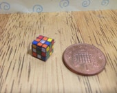 Hand made Dolls house Miniature replica rubiks cube 112 scale