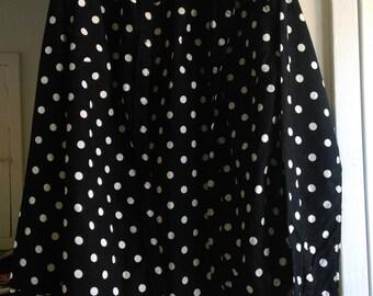 Black and White Polka Dot Shirt Blouse