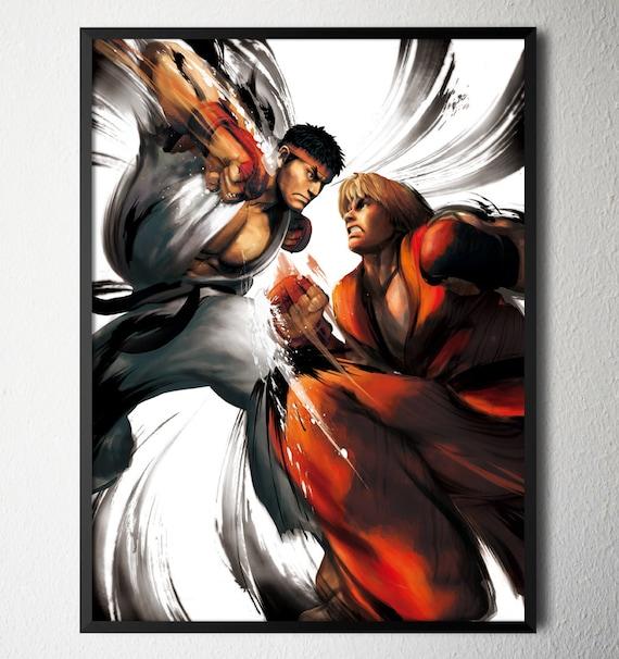 Street Fighter IV Ryu vs. Ken Video Game Poster 18x24 by VGPrint