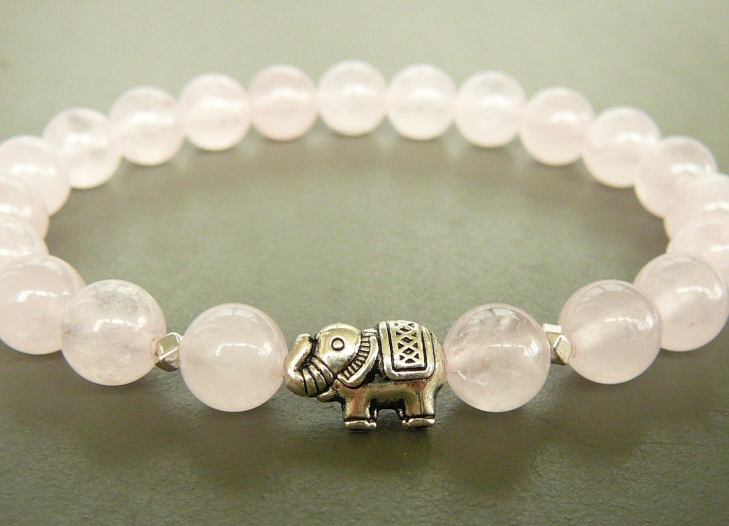 Is quartz considered a natural stone - Rose Quartz Bracelet Elephant Bracelet Women Beaded Bracelet Natural Rose Quartz Bracelet White Stretch Bracelet Natural Stones