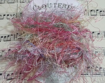 Fibers/Eyelash Trim (Pretty Pastels) for use in Journals, Scrapbooks, Mixed Media, Collage