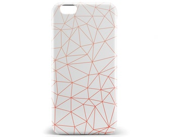1382 // Geometric Triangle Red Orange Phone Case iPhone 5/5S, 6/6S, 6+/6S+ Samsung Galaxy S5, S6, S6 Edge Plus, S7
