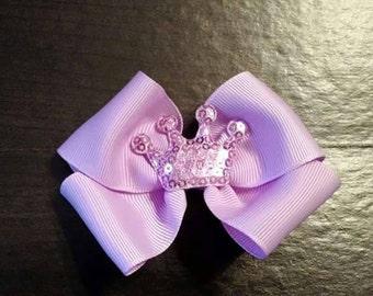 Lavender Princess Crown simple bow