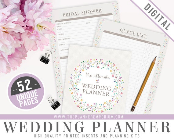 ultimate wedding planner organizer kit instant download