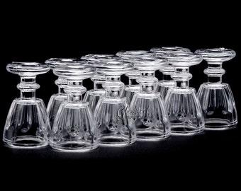 10pc/Set - Dollhouse Miniatures Plastic Wine Glass Goblet with Art Pattern