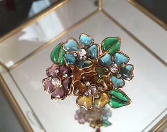 Vintage Gripoix brooch for the House of Chanel