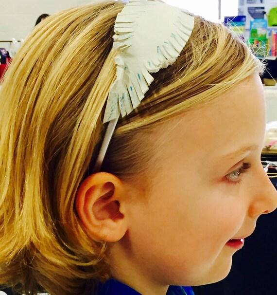 Feather/rose headband