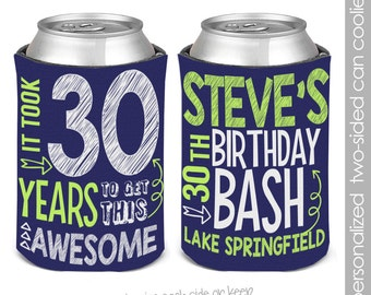 birthday party can coolies, coozies coozies for 30th birthday parties 21st birthday 40th birthday party coozies