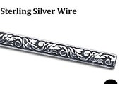 """Sterling Silver, """"Nature"""" Design, Pattern Wire, Dead Soft,  #126"""