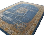 RESERVED FOR MANSI - 9x12 Antique Chinese area rug, wool rug, hand knotted area rug, area rug 9x12, mainstreetrugs, 1800s, worn rug, shabby