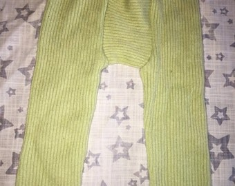 100% Cashmere Celery Green Baby Leggings Longies Pants Longies - Size 3-9M