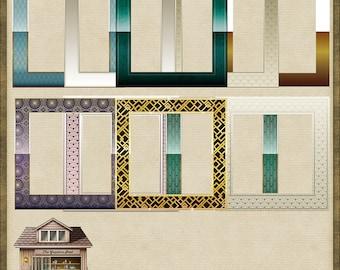 10 Art Deco Square Frames Instant Digital Download