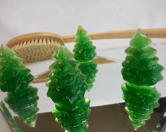 O' Christmas Tree Soap - Pine Tree Party Favor - Kids Christmas Soap - Stocking Stuffer - Handmade Decorative Soap - Holiday Gift - 4 pk