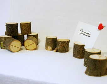 8 place card holders, rustic wedding place card holders, wedding card holders, wood card holders