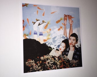 Paper Collage Print | Fish Feet