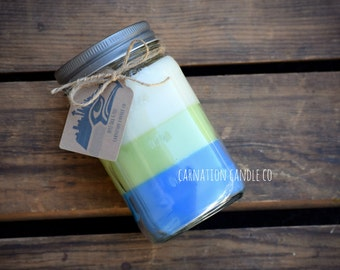 Seattle Seahawks all natural 16oz soy candle