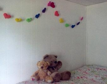Rainbow Heart Bunting-Free Shipping