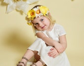 Felt Flower Crown in Yellow || Ariana || FREE SHIPPING!