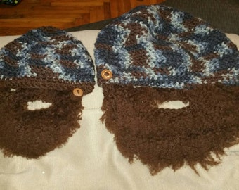 Bearded beanies for two!