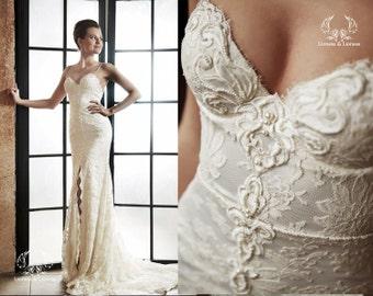 Lace wedding dress. Wedding dress. Bridal gown Irina.