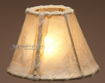 "6"" Rawhide Chandelier Lamp Shade"