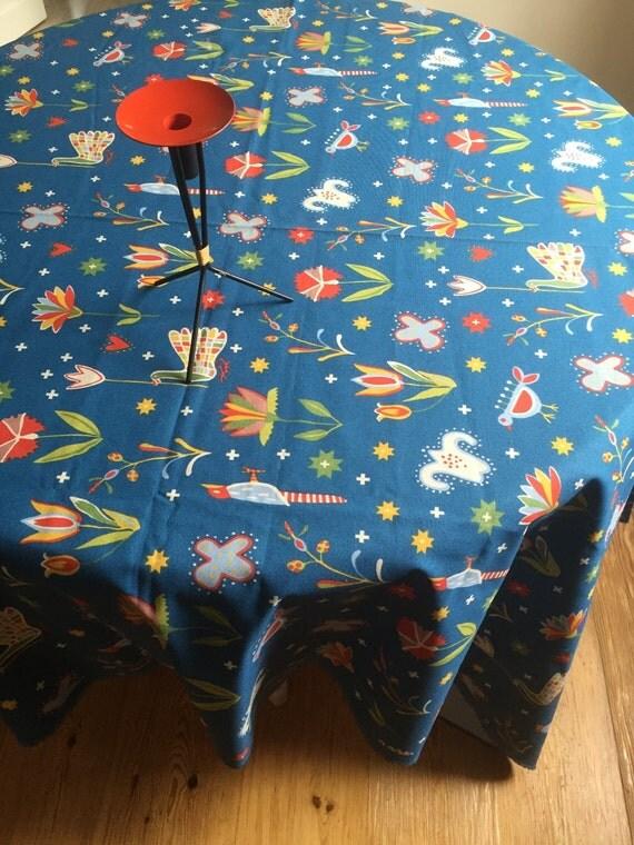 folk art ikea sweden fabric birds and flowers cotton. Black Bedroom Furniture Sets. Home Design Ideas