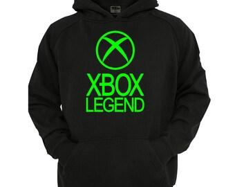 Xbox Legend Hoodie, boys/Girls gamer Hoodie sizes 5-13 years,children's black hoodie