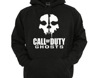 Ghost COD Hoodie, boys/Girls gamer Hoodie sizes 5-13 years,children's black hoodie