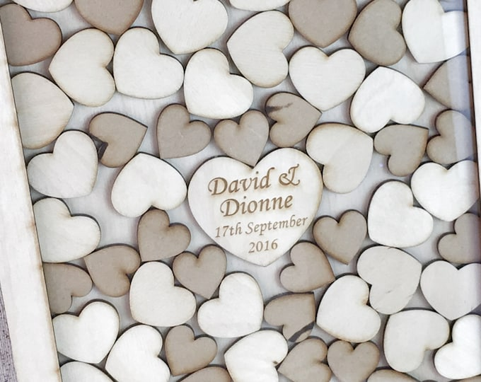 A2 dropheart Wedding Guestbook