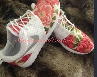 Floral Nike Roshe Run Custom Sneakers