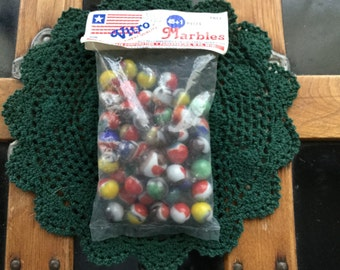 Vintage VITRO Agate Marbles in Original Bag - Never Opened