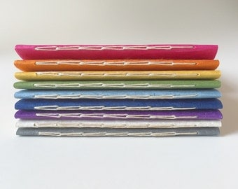 SET OF 10 Mini Jotter Notebooks - Your Choice of Colors