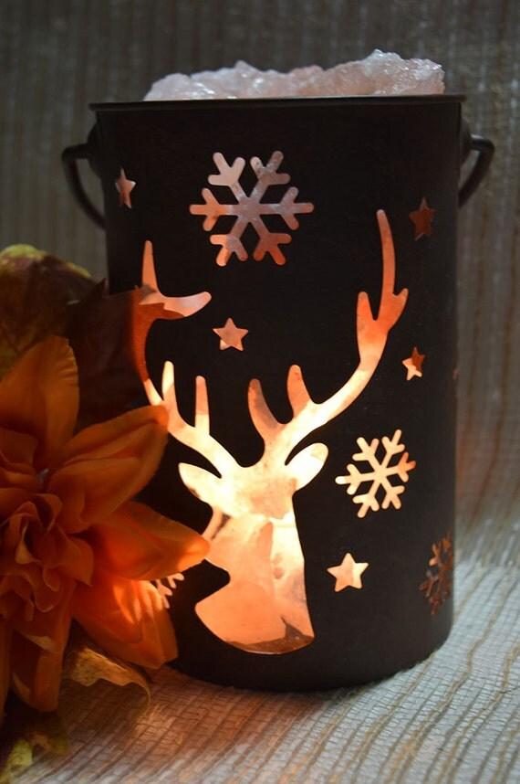 Deer Silhouette Himalayan Salt Lamp Medium Sized Deer