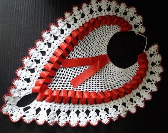 Ukrainian vintage handmade interesting crochet doily