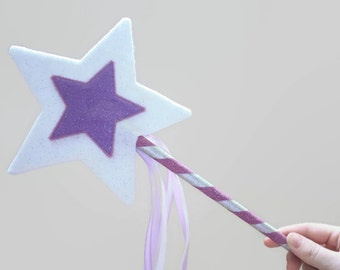 Purple Sparkle Fairy Wand