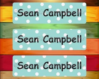 80 Personalized WATERPROOF Stickers, Wateproof Labels, Dishwasher Safe, Daycare Name Tag Stickers, School, Summer Camp Stickers-TFD488