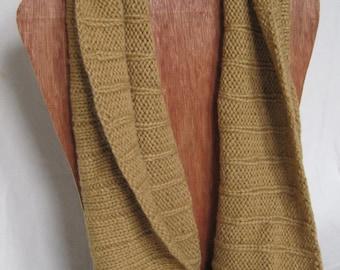 Hand knit Alpaca Wool Infinity Scarf