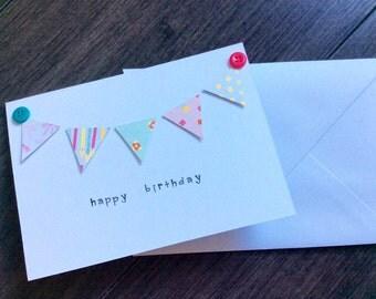 Sweet Bunting - Birthday Card