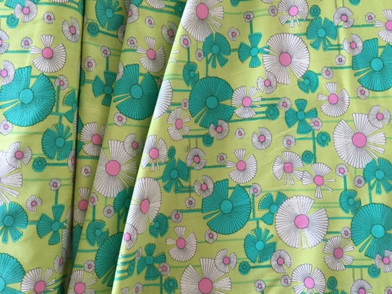 Amy Butler Glow-Wind Flower PWAB129 Zest (yellow) By the Yard (BTY)