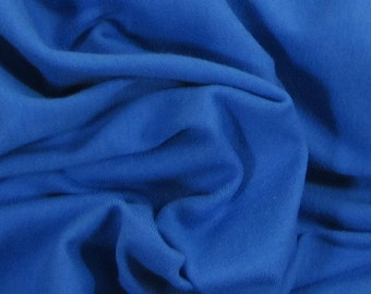 Organic KNIT Cotton Baby Rib Knit: Royal Blue