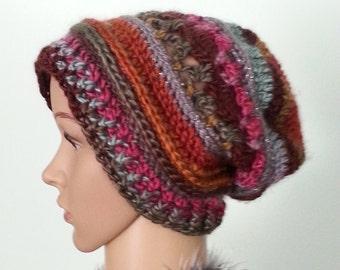Crochet Women's Hat, Slouchy Women's Hat, Slouchy Beanie, Winter Hat, Women's Accessories