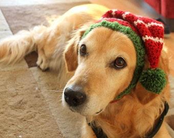 Elf Hat for Dogs, Dog Elf Hat, Holiday Dog Hat, Christmas Hat for Dogs, Large Breed Dog Hat, Christmas Elf Dog Hat, Elf Dog Hat