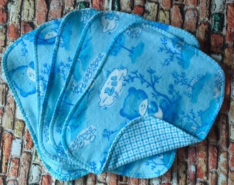 Blue Bear Cloth Wipes, Flannel Wipes