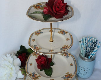 4 tiers cake stand plate